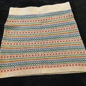 Wallace for Madewell Fair Isle Mini Sweater Skirt